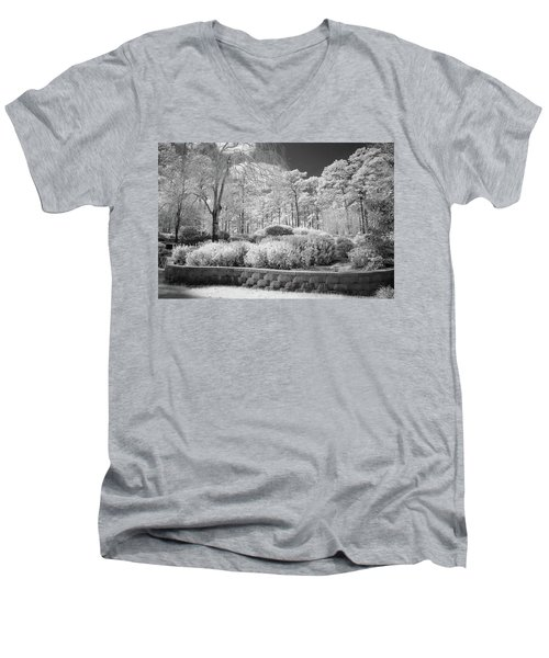 White Forrest Men's V-Neck T-Shirt