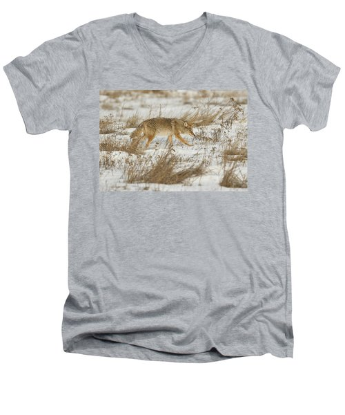Hunting Men's V-Neck T-Shirt by Scott Warner