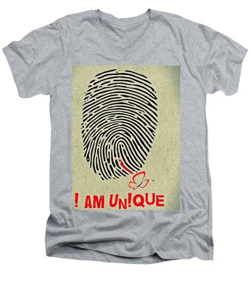 I Am Unique Men's V-Neck T-Shirt