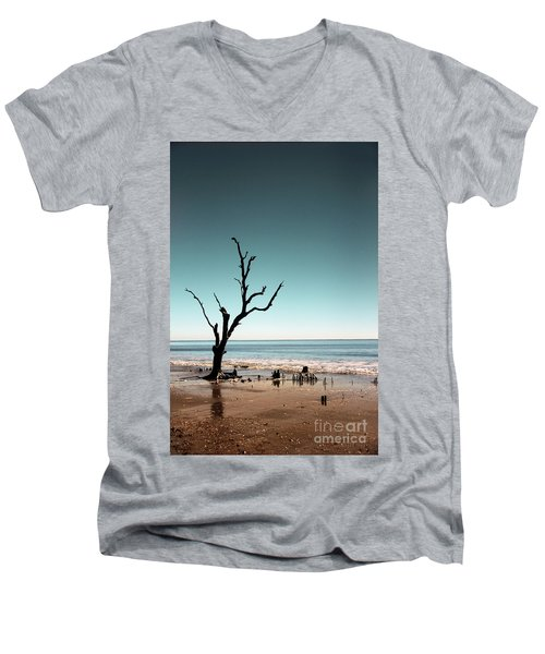 Men's V-Neck T-Shirt featuring the photograph I Can Be Free by Dana DiPasquale