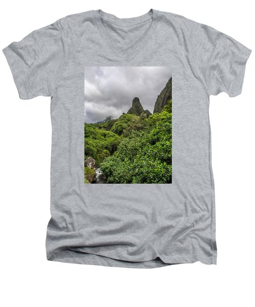 Iao Valley Men's V-Neck T-Shirt