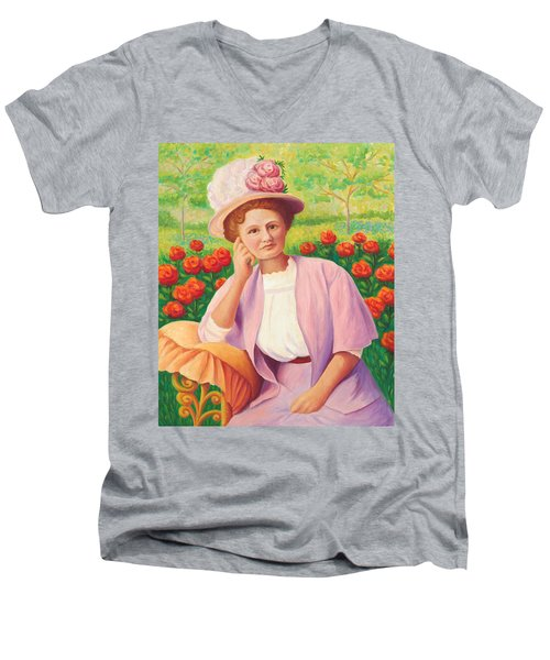 Ida In The Garden Men's V-Neck T-Shirt