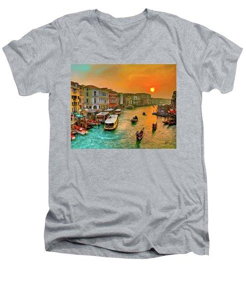 Imbarcando. Venezia Men's V-Neck T-Shirt