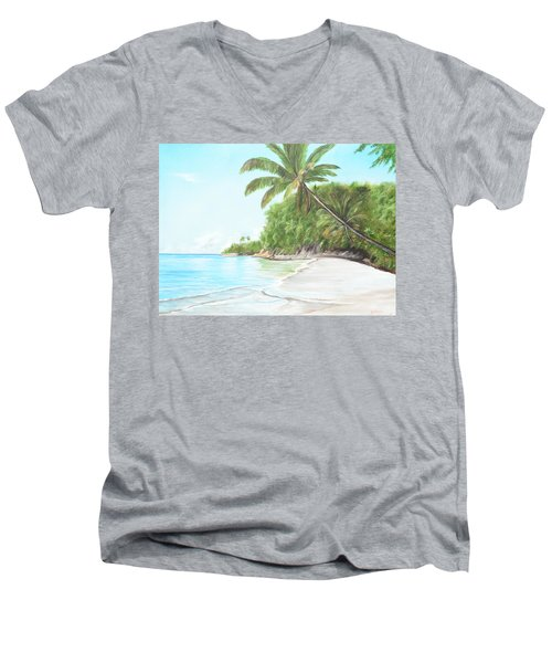 In Paradise Men's V-Neck T-Shirt by Lloyd Dobson