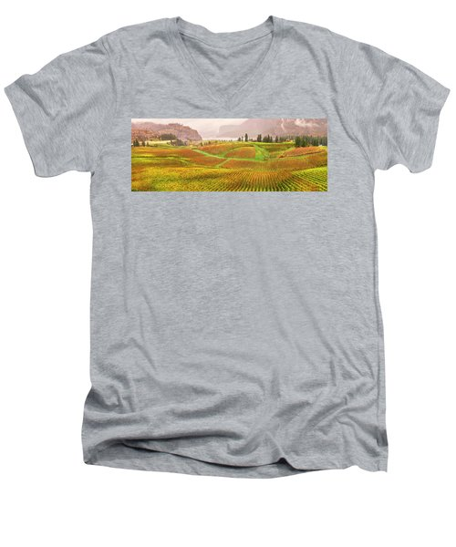 Men's V-Neck T-Shirt featuring the photograph In The Early Morning Rain by John Poon