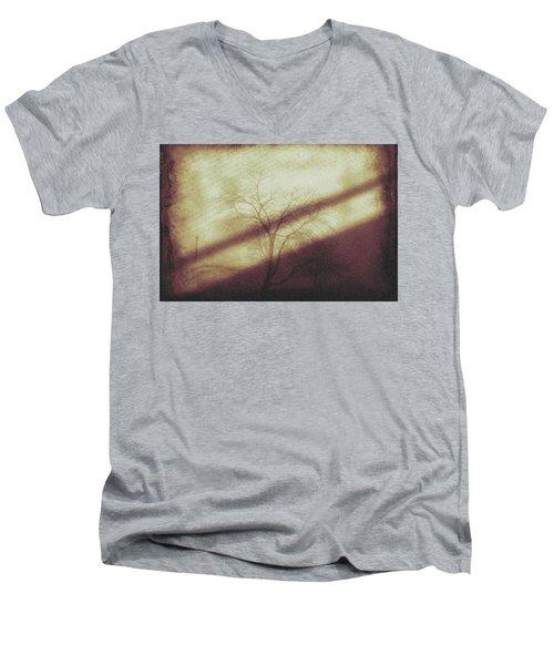 Men's V-Neck T-Shirt featuring the photograph In The Quiet by Allen Beilschmidt