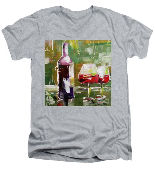 In Vino Veritas. Wine Collection Men's V-Neck T-Shirt