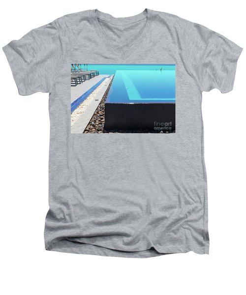 Men's V-Neck T-Shirt featuring the photograph Infinity Pool by Atiketta Sangasaeng