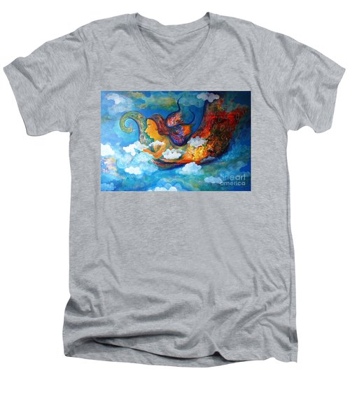 Inner Dream Men's V-Neck T-Shirt by Sanjay Punekar