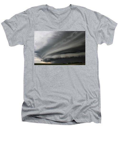 Intense Shelf Cloud Men's V-Neck T-Shirt