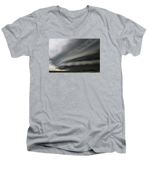 Intense Shelf Cloud Men's V-Neck T-Shirt