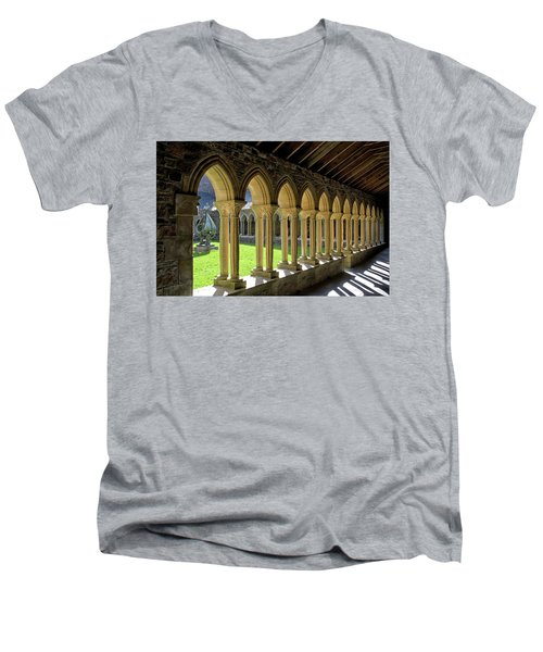 Iona Abbey Scotland Men's V-Neck T-Shirt