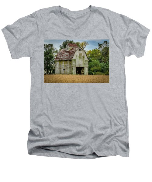 Iowa Barn Men's V-Neck T-Shirt by Ray Congrove