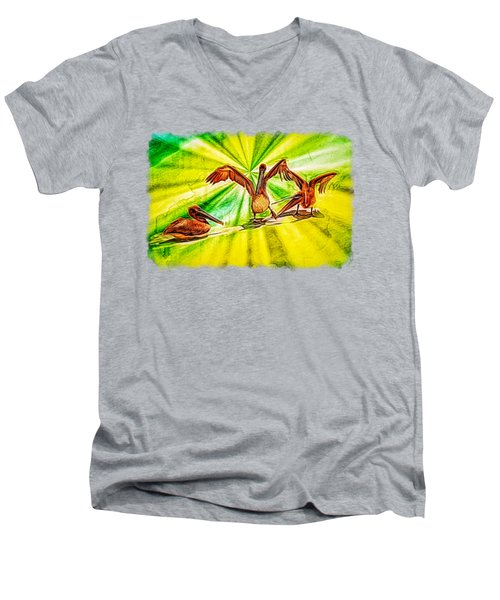 It's All Good Men's V-Neck T-Shirt by John M Bailey