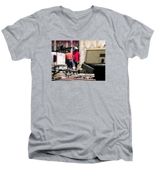 Jackhammer Men's V-Neck T-Shirt