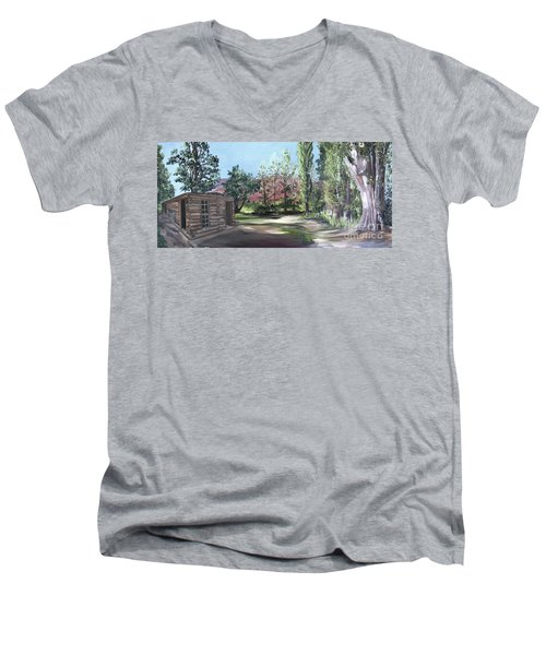 Josie's Cabin Men's V-Neck T-Shirt