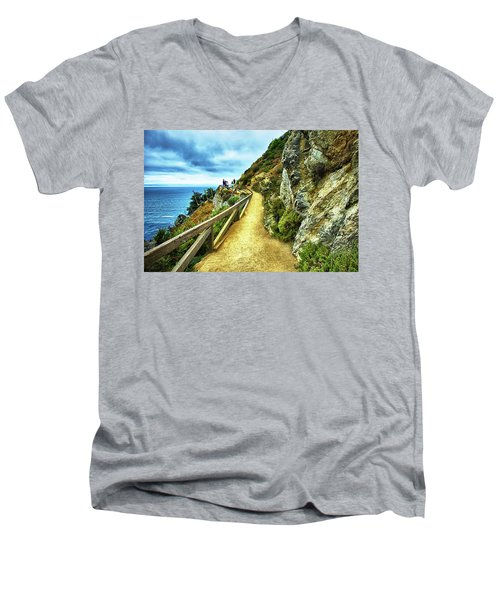 Julia Pfeiffer Burns State Park Men's V-Neck T-Shirt