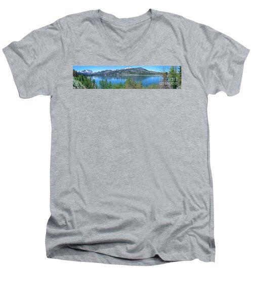June Lake Panorama Men's V-Neck T-Shirt