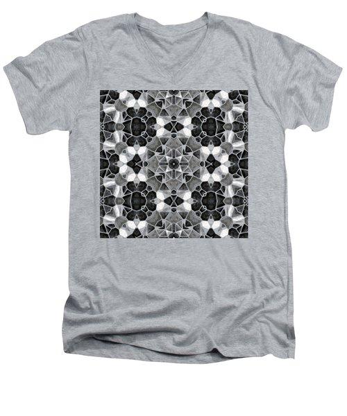 Kaleidoscop Men's V-Neck T-Shirt by Michal Boubin