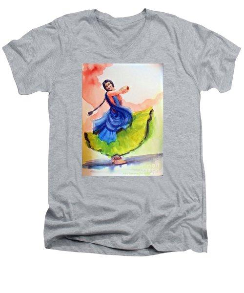 Kathak Dancer Men's V-Neck T-Shirt