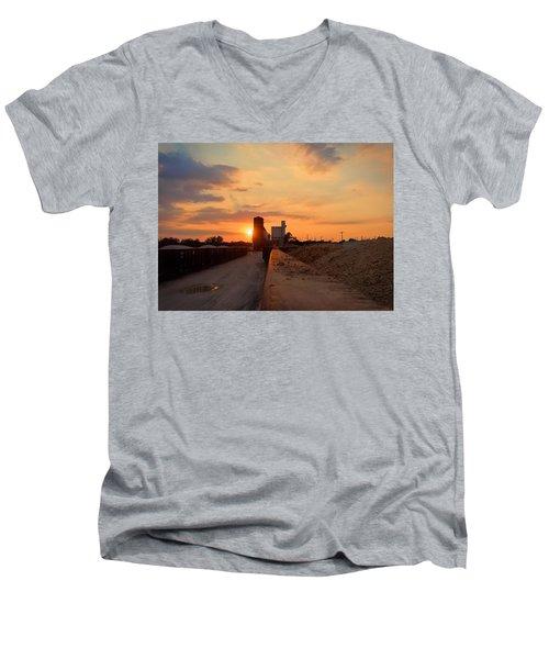 Katy Texas Sunset Men's V-Neck T-Shirt