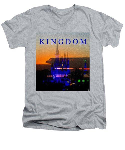 Men's V-Neck T-Shirt featuring the digital art Kingdom by David Lee Thompson