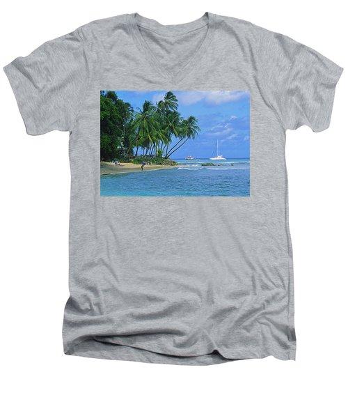 King's Beach, Barbados Men's V-Neck T-Shirt