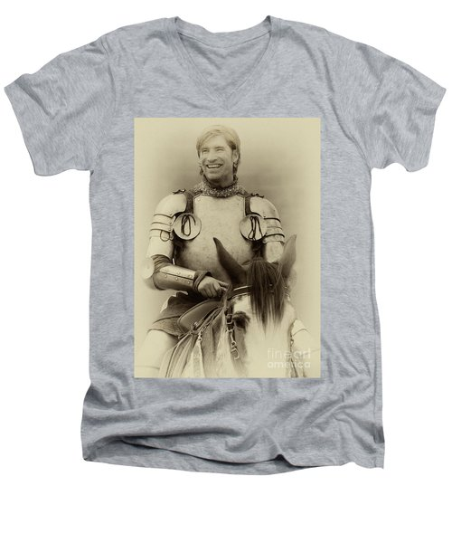 Men's V-Neck T-Shirt featuring the photograph Knights Of Old 12 by Bob Christopher