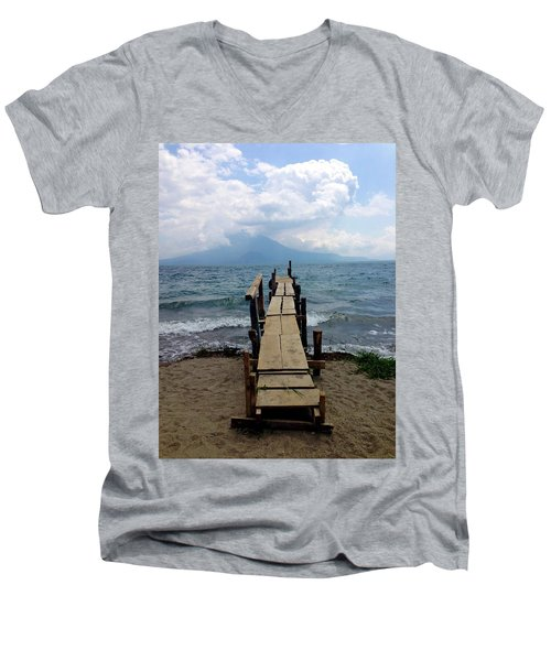 Lake Atitlan Dock Men's V-Neck T-Shirt