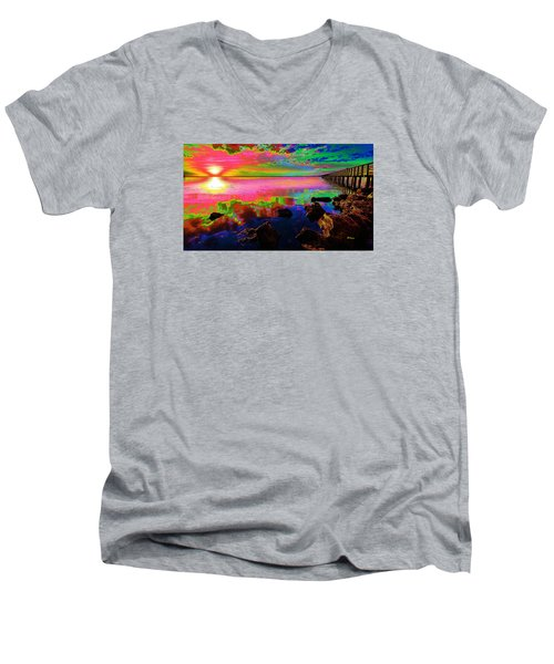 Lake Sunset Men's V-Neck T-Shirt