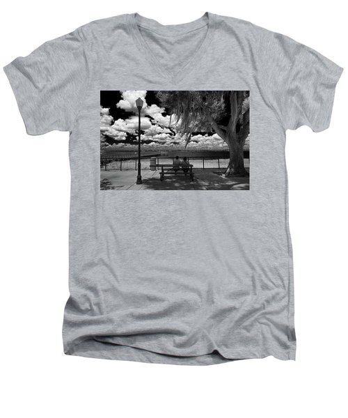 Men's V-Neck T-Shirt featuring the photograph Lake View by Lewis Mann