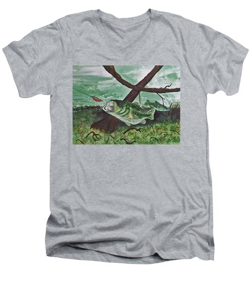 Largemouth Bass Men's V-Neck T-Shirt