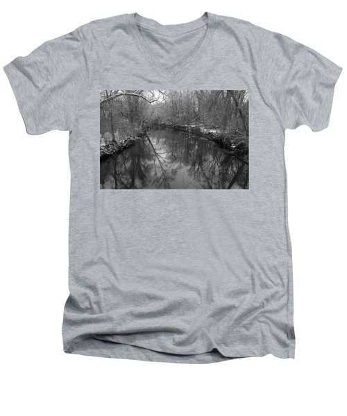 Late Winter In Philly Men's V-Neck T-Shirt