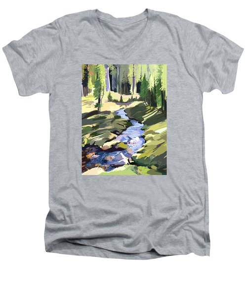 Lena Peak Stream Men's V-Neck T-Shirt