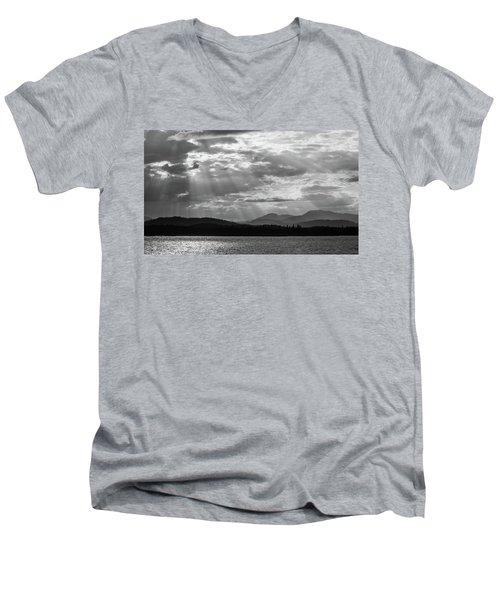 Let's Get Lost Men's V-Neck T-Shirt by Yvette Van Teeffelen