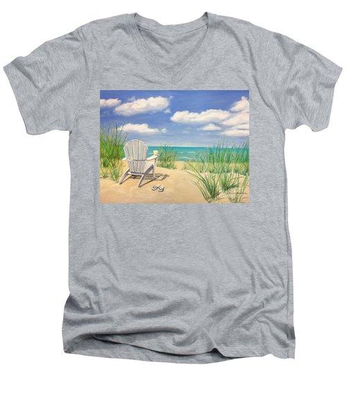 Life Is A Beach Men's V-Neck T-Shirt by Diane Diederich
