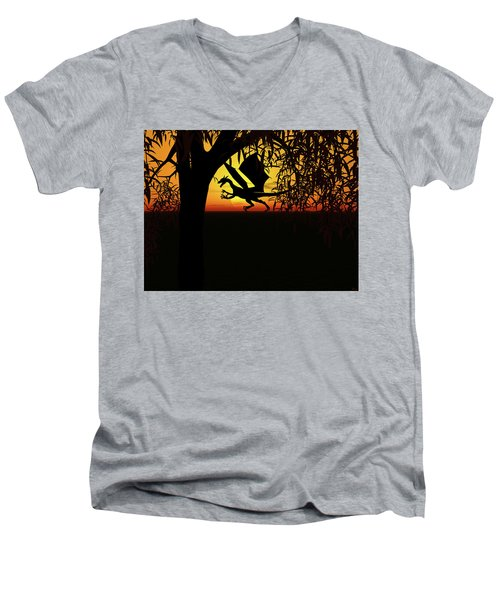 Lights And Shadow Men's V-Neck T-Shirt by Michele Wilson