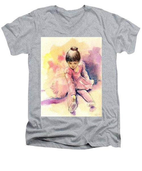 Little Ballerina Men's V-Neck T-Shirt