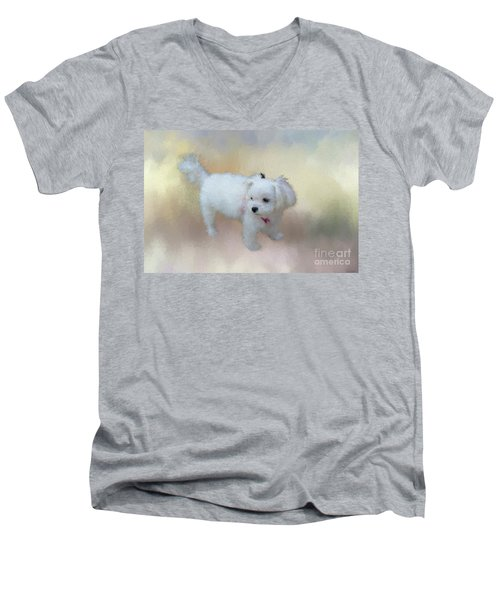 Little Cutie Men's V-Neck T-Shirt by Eva Lechner