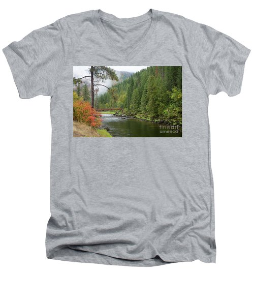 Lochsa Mists Men's V-Neck T-Shirt