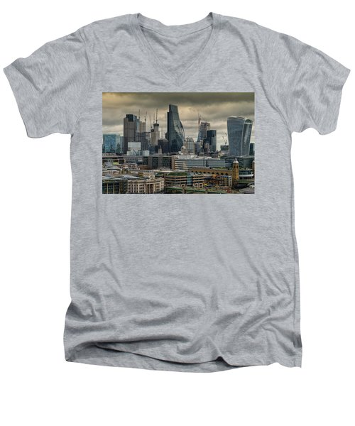 London City Men's V-Neck T-Shirt