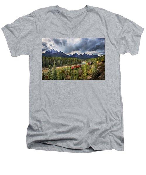 Long Train Running Men's V-Neck T-Shirt