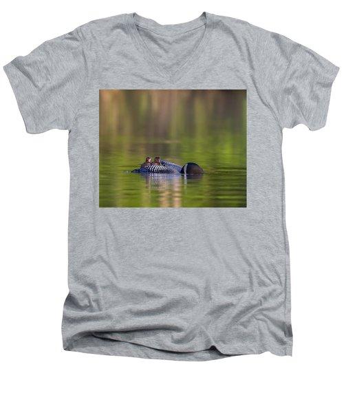 Loon Chick Yawn Men's V-Neck T-Shirt