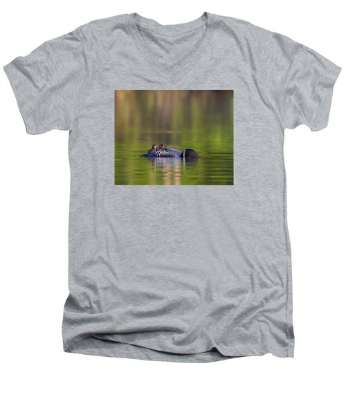 Loon Chick Yawn Men's V-Neck T-Shirt