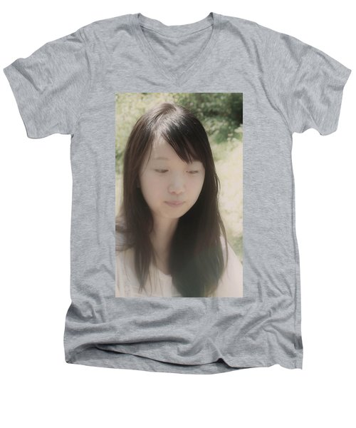 Men's V-Neck T-Shirt featuring the photograph Lost In Thought by Tim Ernst