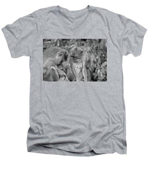 Love Men's V-Neck T-Shirt by Cassandra Buckley