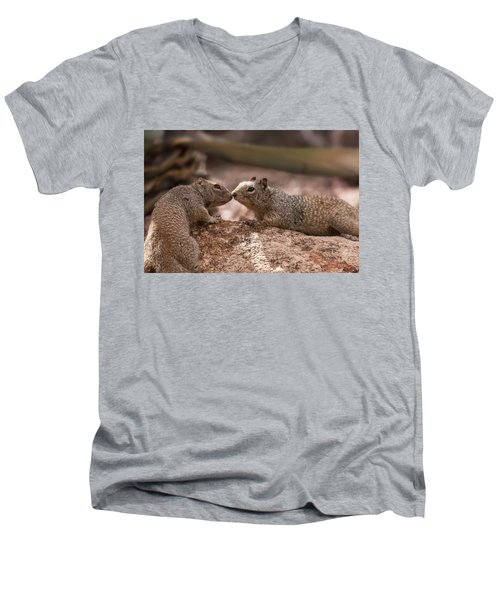 Men's V-Neck T-Shirt featuring the photograph Love Is In The Air  by Saija Lehtonen