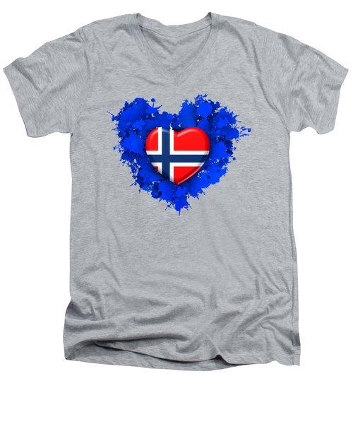 Love Norway Men's V-Neck T-Shirt