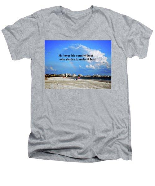 Love Of Country Men's V-Neck T-Shirt