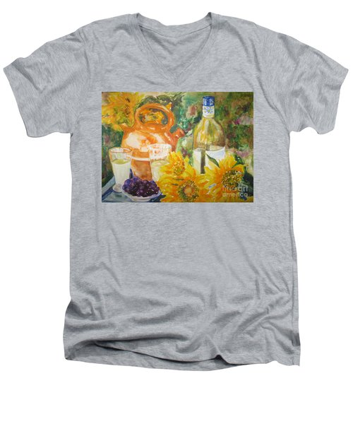 Lunch In Provence Men's V-Neck T-Shirt by Lisa Boyd